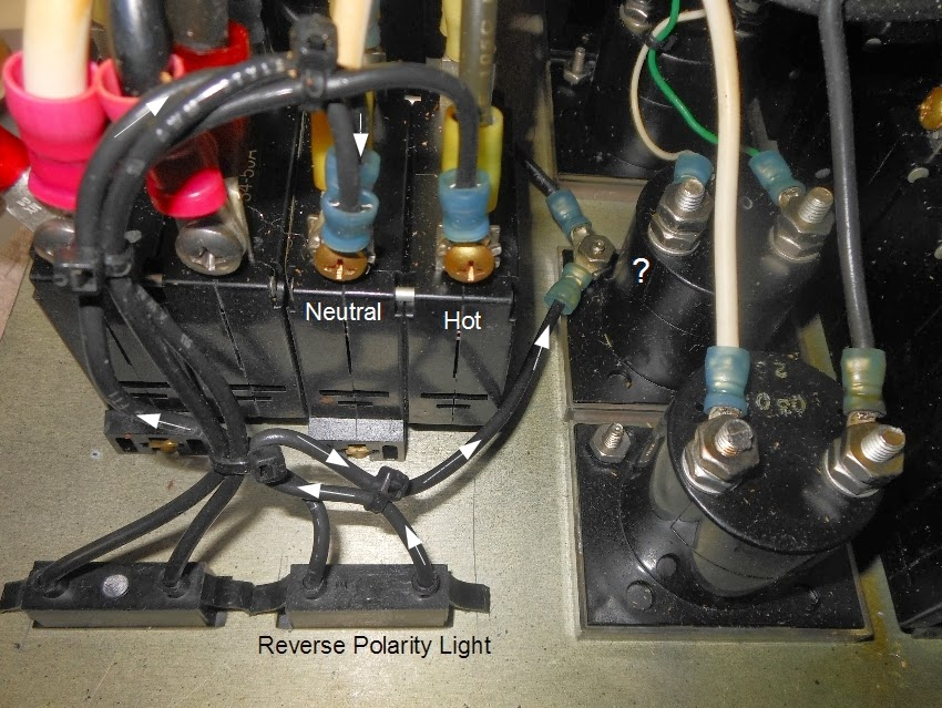 reverse polarity light leaking
